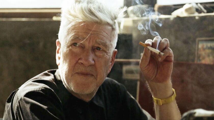 "David Lynch in the documentary ""David Lynch: The Art Life."""