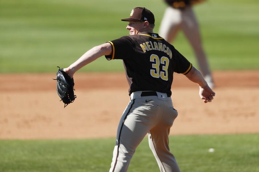 Padres pitcher Mark Melancon