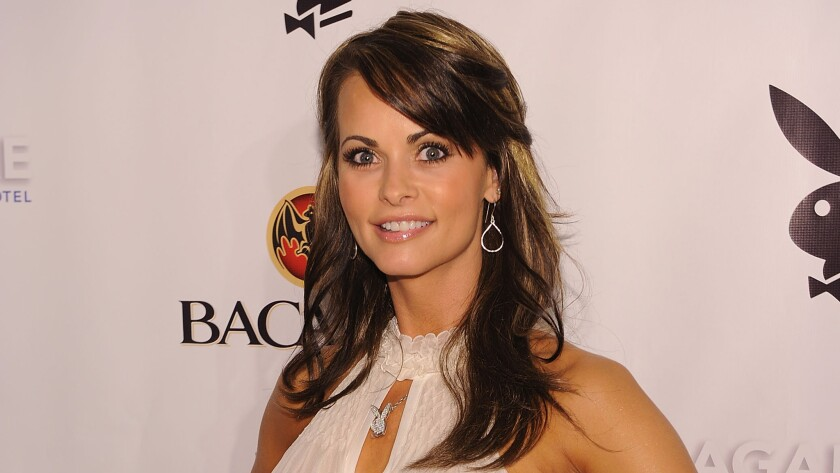 Karen McDougal attends a Playboy event in Miami Beach, Fla., in February 2010.