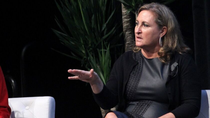 Cyma Zarghami, shown in 2015, stepped down Monday as president of Viacom's Nickelodeon network.