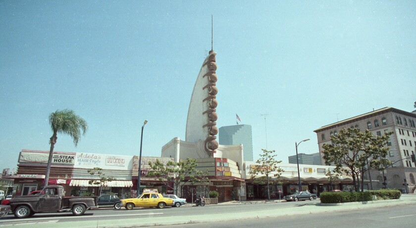 The Tower Bowl building on Broadway between Kettner Boulevard and India street