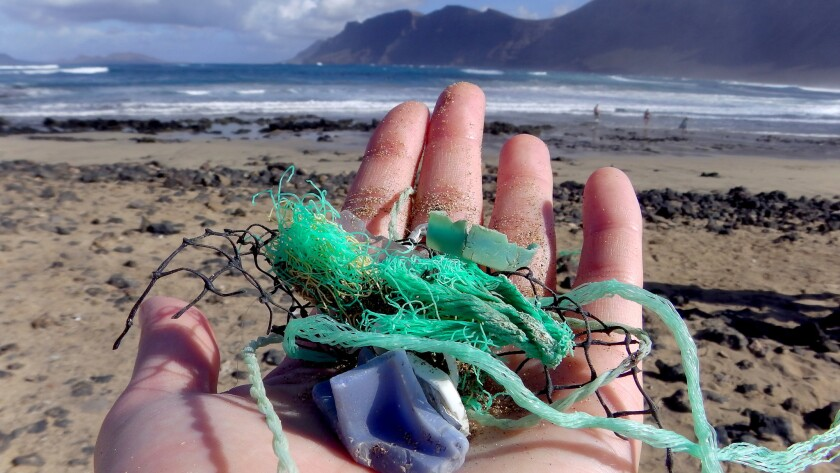 Plastic trash in oceans
