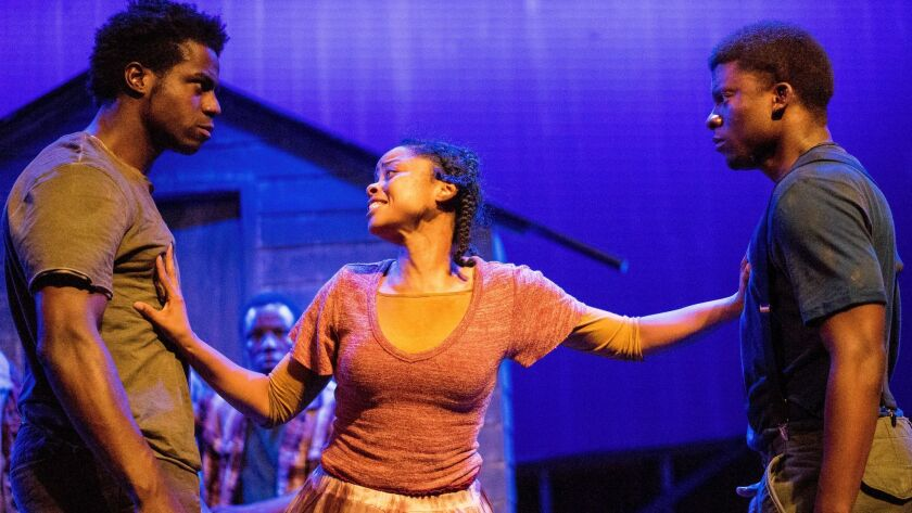 "Wrekless Watson, Tamara McMillian and Cortez L. Johnson (from left) in ""Father Comes Home From the W"