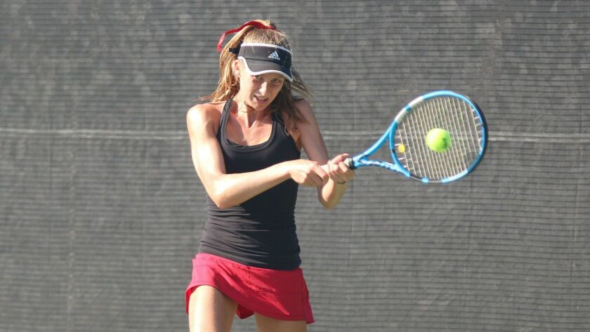 Katie Codd helped spark Canyon Crest to the San Diego Section Open Division girls tennis team championship.