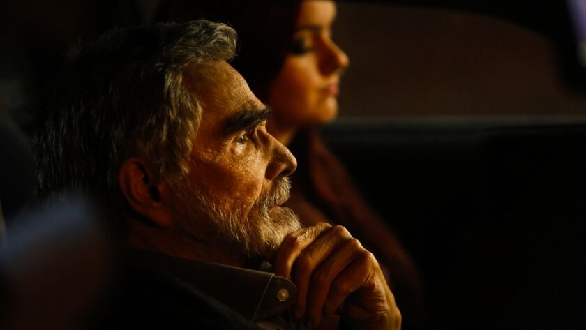 "Burt Reynolds, is shown with Ariel Winter in a scene from his new film ""The Last Movie Star."""