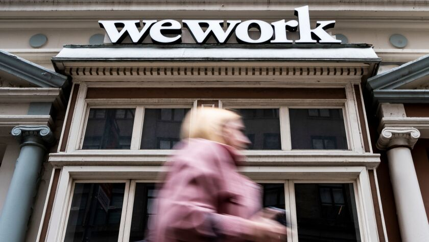 WeWork Potential IPO, New York, USA - 03 May 2019