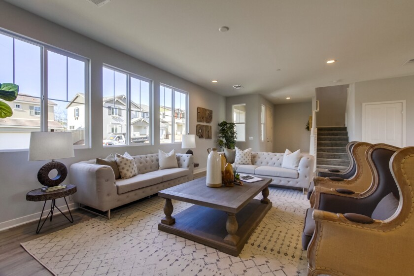 Borden Glen's 22 family-friendly homes, located on private cul-de-sac streets in San Marcos, are available in four plans of up to 2,744 square feet, priced from the mid-$600,000s.
