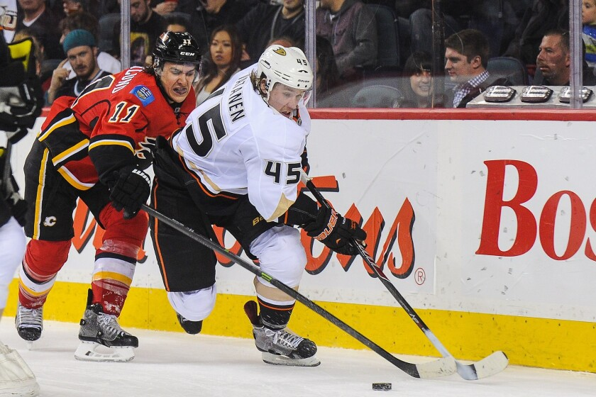 The Ducks promoted Sami Vatanen from the minors on Thursday.
