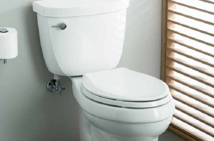 New water-saving rules in California include a mandate that toilets not use more than 1.28 gallons per flush.