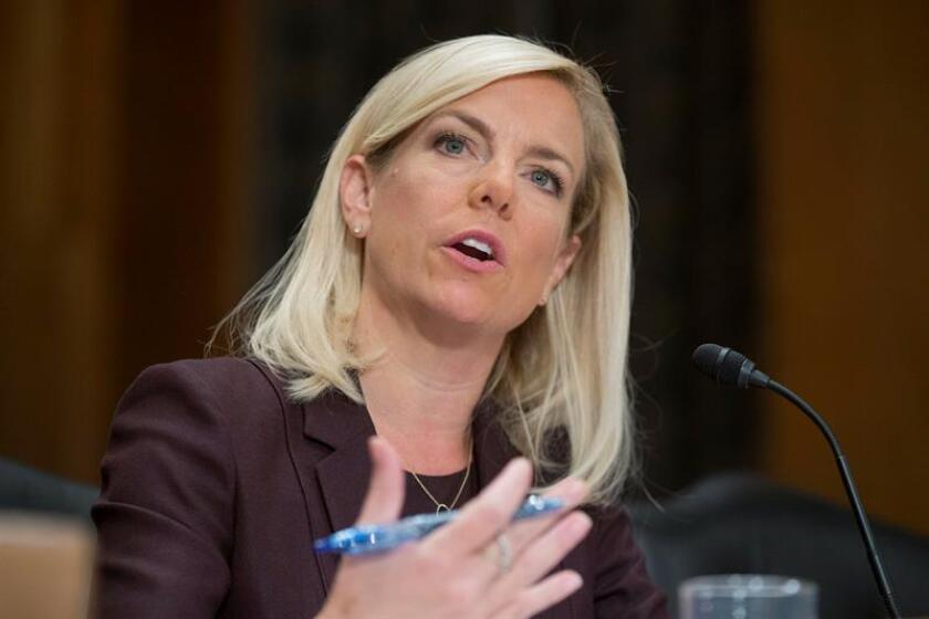 La secretaria del Departamento de Seguridad Nacional (DHS), Kirstjen Nielsen. EFE/Archivo