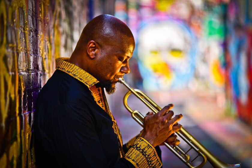 Jazz veteran Sean Jones, above, will perform a musical homage to bebop trumpet giant Dizzy Gillespie.