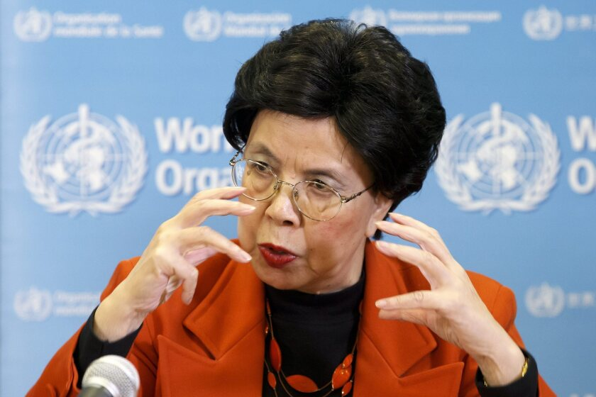 Margaret Chan, director-general of the World Health Organization, speaks at a Feb. 1 Geneva news conference on the Zika virus.