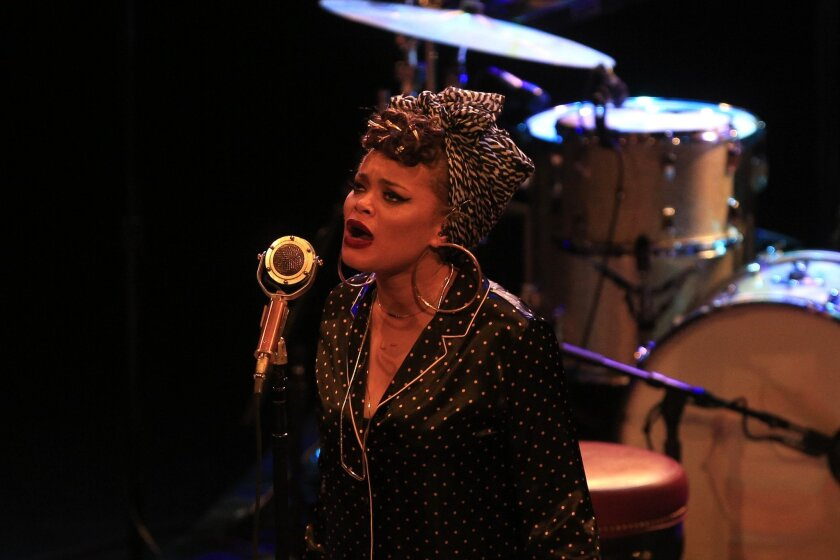 Grammy nominated Andra Day performed at the Observatory North Park Tuesday evening.