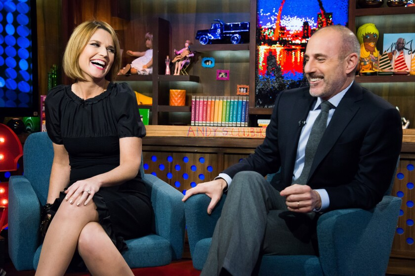 Nbc S Savannah Guthrie Has Many More Tomorrows On Today Los Angeles Times