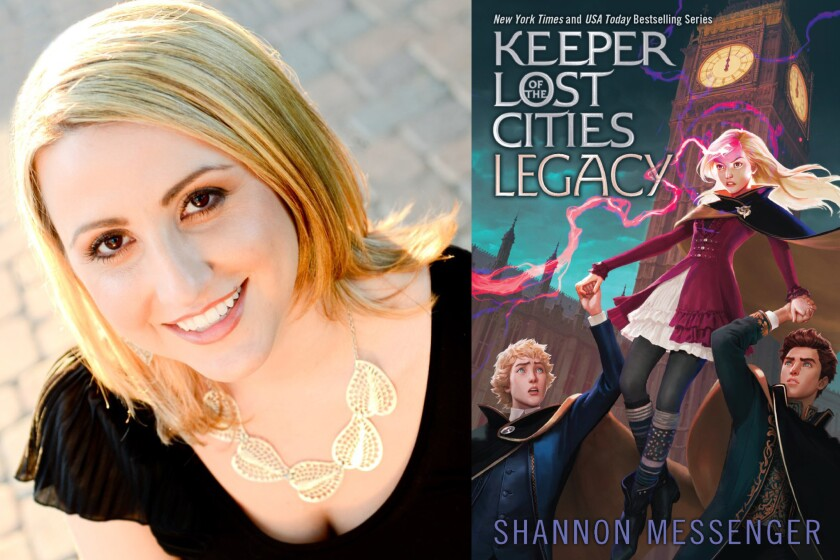 "Author Shannon Messenger and the latest in her ""Keeper of the Lost Cities"" series, ""Legacy."""