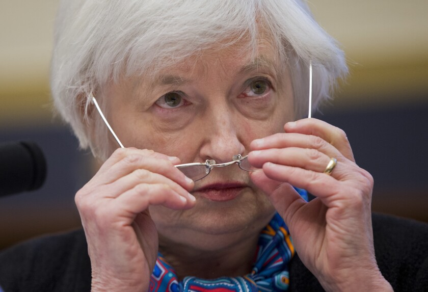 Federal Reserve Chairwoman Janet L. Yellen testifies before the House Financial Services Committee on June 22.