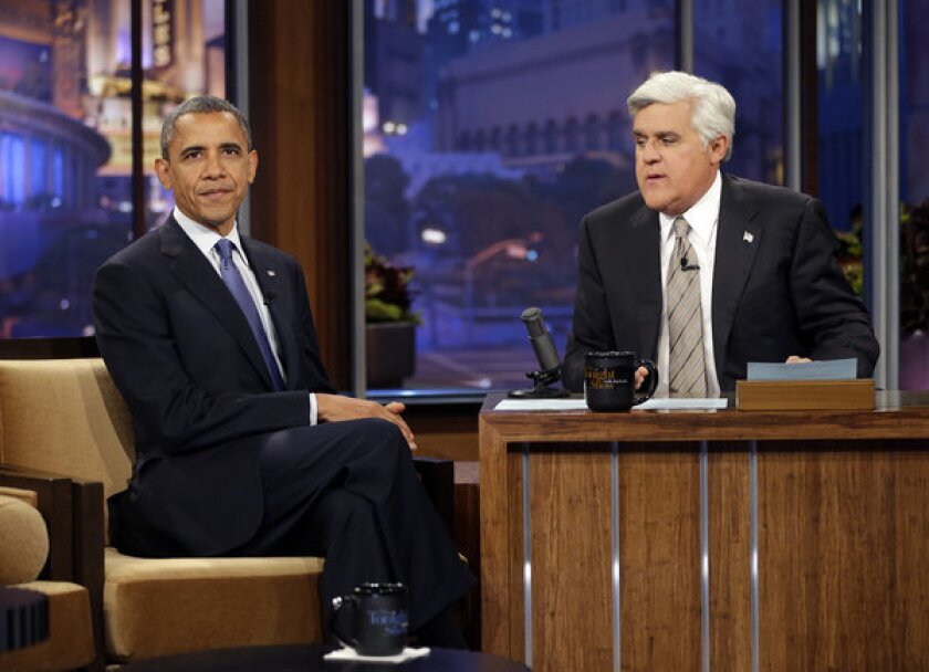 """President Obama appears on """"The Tonight Show with Jay Leno"""""""