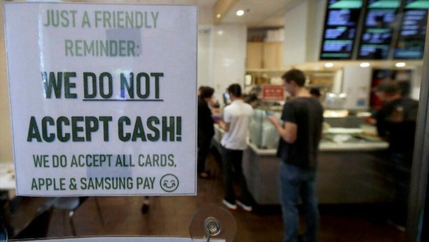 No cash at this restaurant
