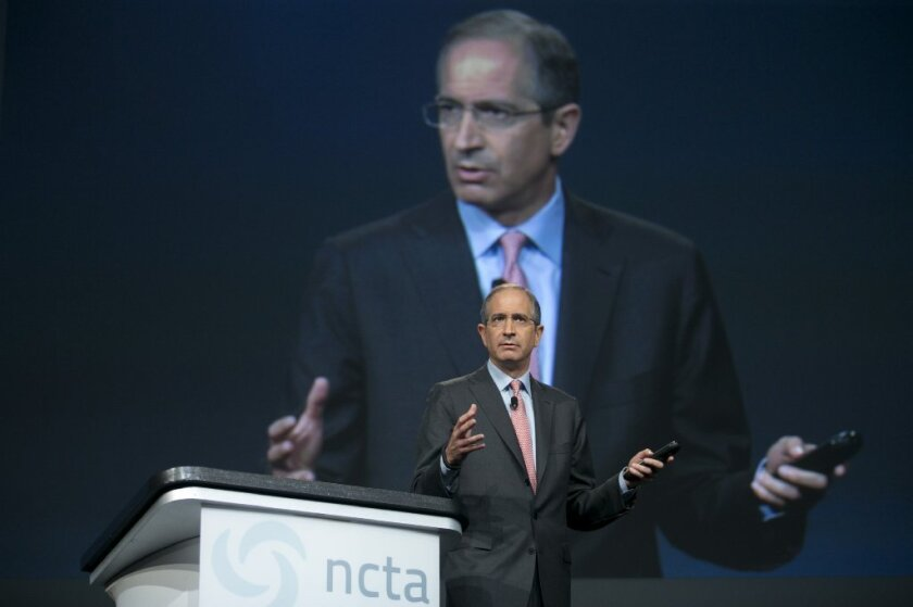 Big and getting bigger? Comcast Chairman Brian Roberts at a recent telecommunications conference.