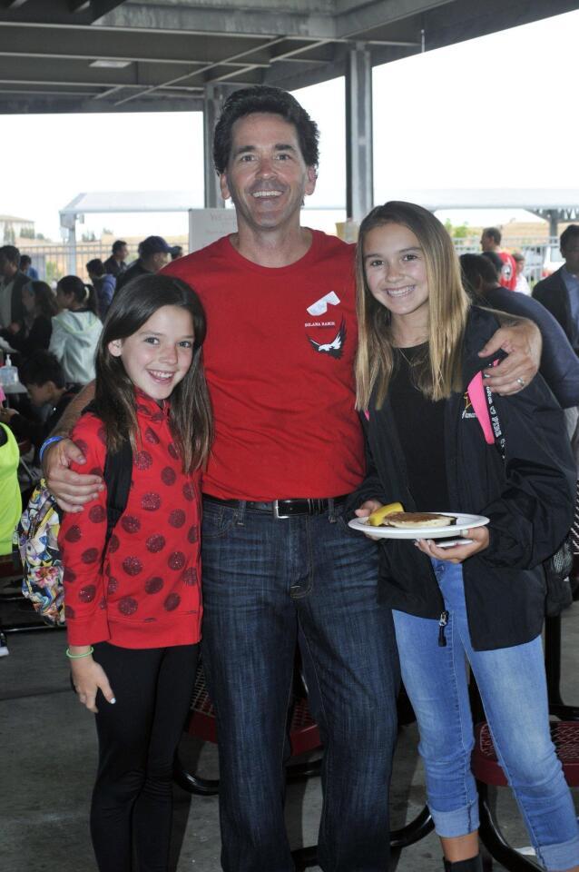 Event organizer Clay Whiting (aka Dr. Pancake) with Kayla and Samantha