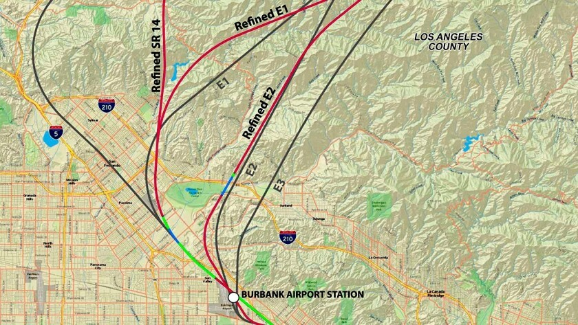 Proposed rail route change