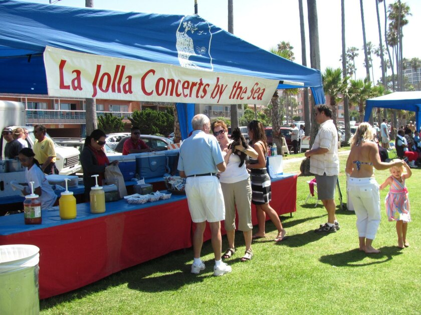 Sales from the concession stand help fund the concerts.