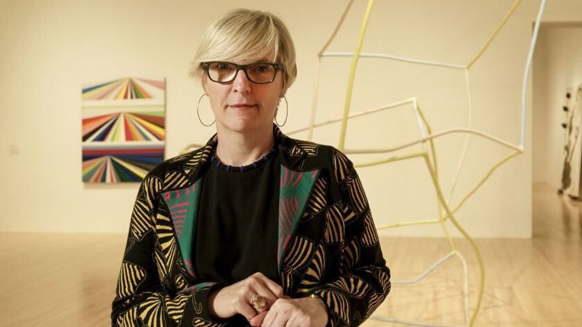 LOS ANGELES - CA - JANUARY 04, 2016 - MOCA's permanent collection chief curator Helen Molesworth sta