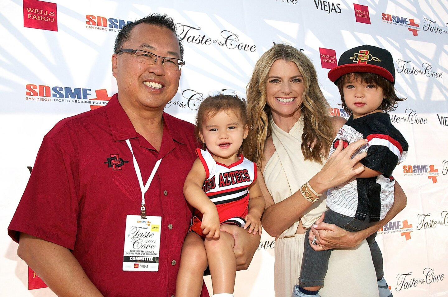 San Diego Sports Medicine Foundation founder/president David Chao with Dylan, Kim and Davis Chao