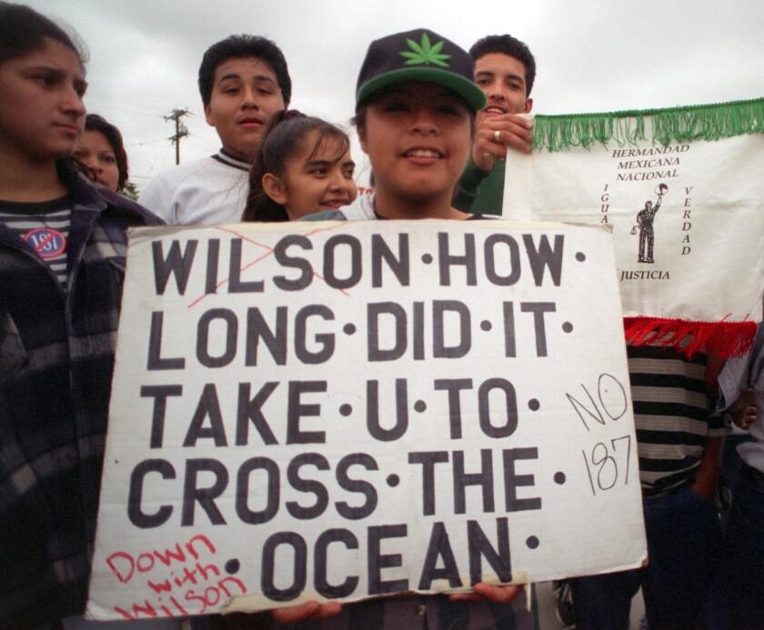Century High School students protest Prop. 187