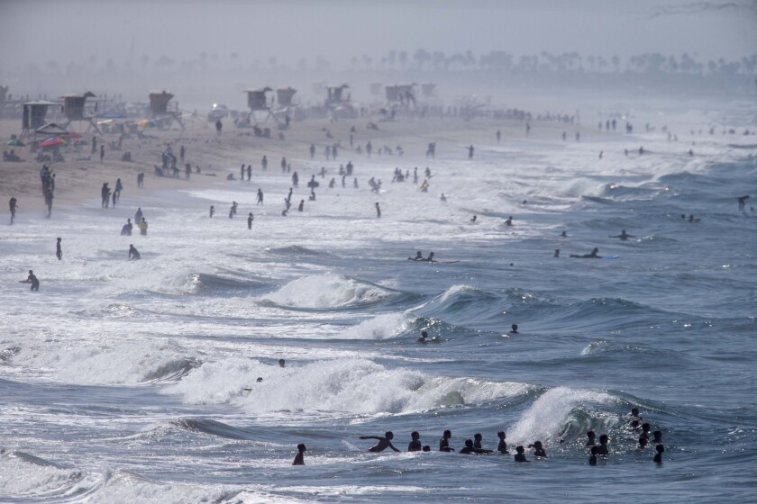 Crowds flock to Huntington Beach in 2014.