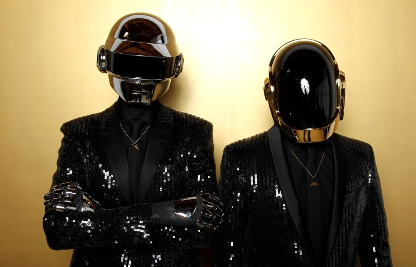 Thomas Bangalter, left, and Guy-Manuel de Homem-Christo from the group Daft Punk.