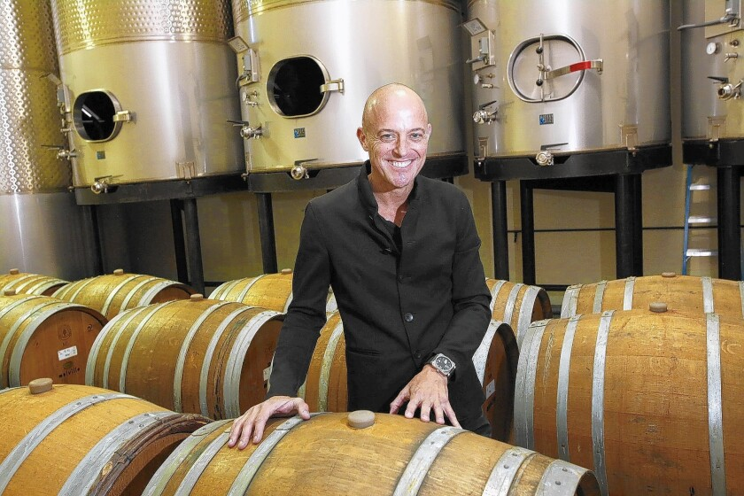 """Greg Brewer, winemaker at Melville Vineyards near Lompoc, says, """"We essentially craft the blend over a six-week period during the harvest."""""""