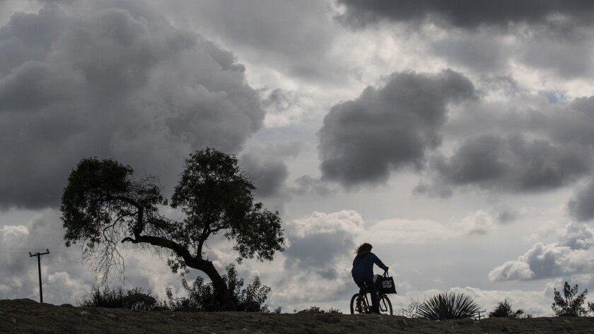 AZUSA, CA, SUNDAY, MARCH 3, 2019 - A storm front moves through the San Gabriel Valley late in the af