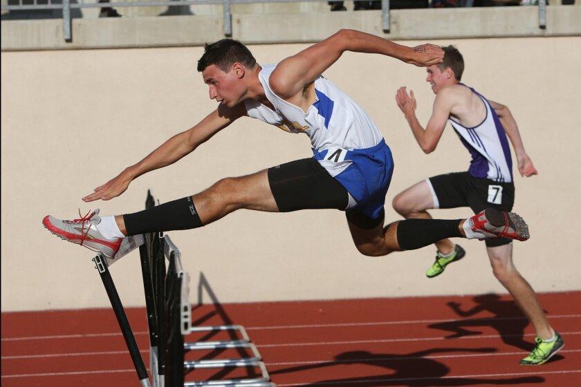 Ben Hartinger of San Pasqual is the favorite in the 110-meter hurdles.