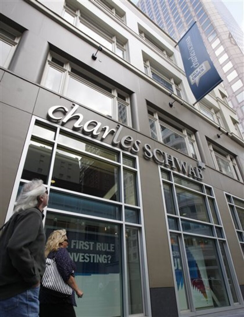 In this Oct. 7, 2010 photo, a Charles Schwab office is seen in San Francisco.