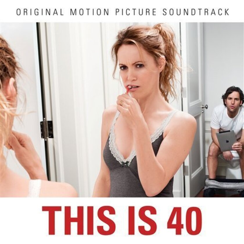 """This undated publicity photo provided by EMI Music shows the soundtrack album cover of the film, """"This Is 40."""" (AP Photo/EMI Music)"""