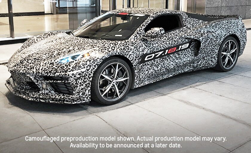 CAPTION 1 - Front view of camouflaged C8 Corvette in NYC - Chevrolet Pressroom photo.jpg