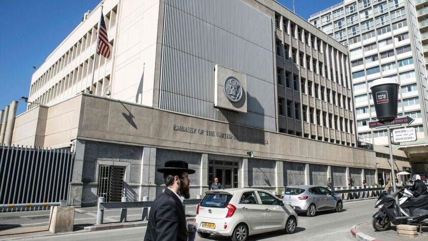 The U.S. Embassy in the Israeli coastal city of Tel Aviv.