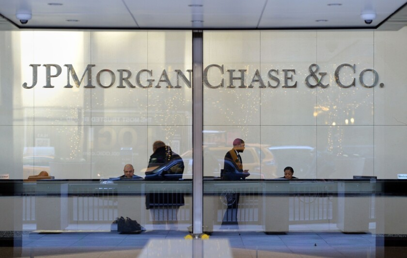 The headquarters of JPMorgan Chase on Park Avenue in New York. JPMorgan Chase is one of four big U.S. banks that had a total of $2.5 trillion of unused credit committed to companies at the end of 2019.