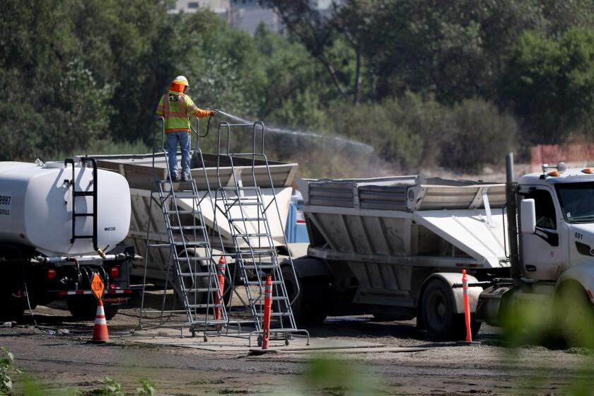 Devil's Gate Dam Sediment Removal Project.