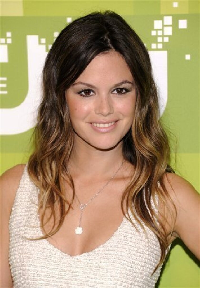 """FILE - In this May 19, 2011 file photo, actress Rachel Bilson, from """"Hart of Dixie"""", attends The CW Network Upfront 2011 at Jazz at Lincoln Center in New York. Bilson, known for her role as Summer Roberts on the series """"The O.C.,"""" returns to TV with her new show """"Hart of Dixie"""" airing on the CW network. (AP Photo/Evan Agostini, file)"""