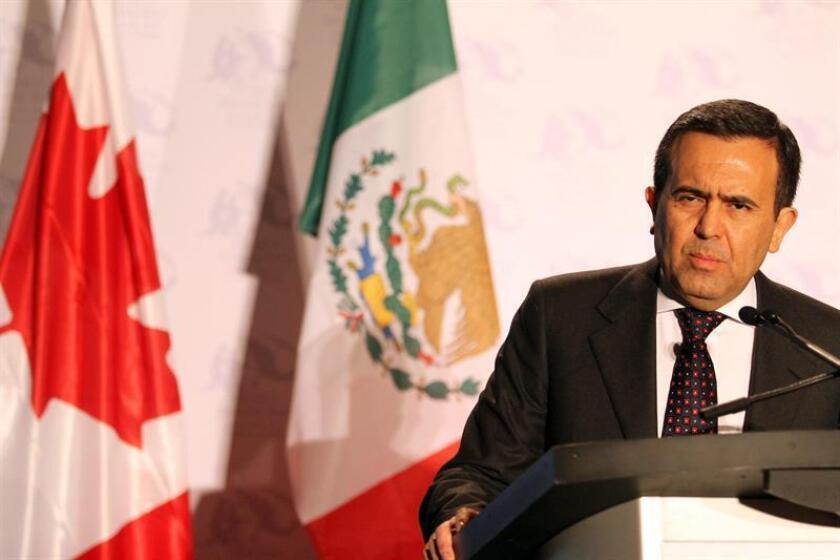 """Los Gobiernos de México, Estados Unidos y Canadá """"lograron avances en varios capítulos"""" durante la quinta ronda de negociaciones para actualizar el Tratado de Libre Comercio de América del Norte (TLCAN), informó hoy la Secretaría de Economía mexicana. En la imagen el titular de Economía, Ildefonso Guajardo. EFE/ARCHIVO"""