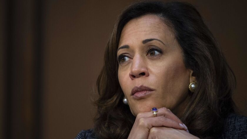 Democratic Sen. Kamala Harris of California.