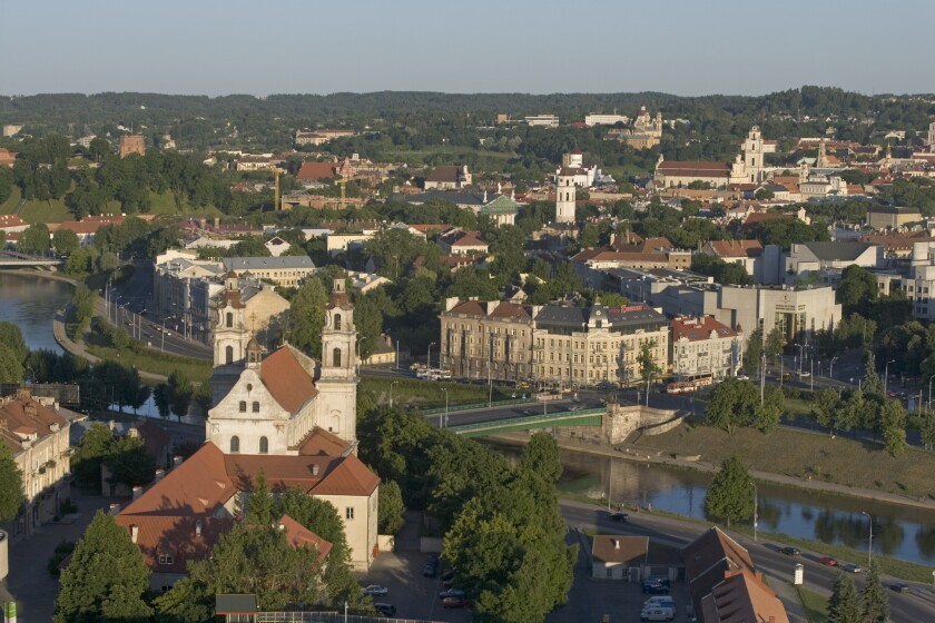 A view of the Old City area of Vilnius, capital of Lithuania. The former Soviet republic has agreed to a U.S. extradition request involving a suspected arms smuggler.