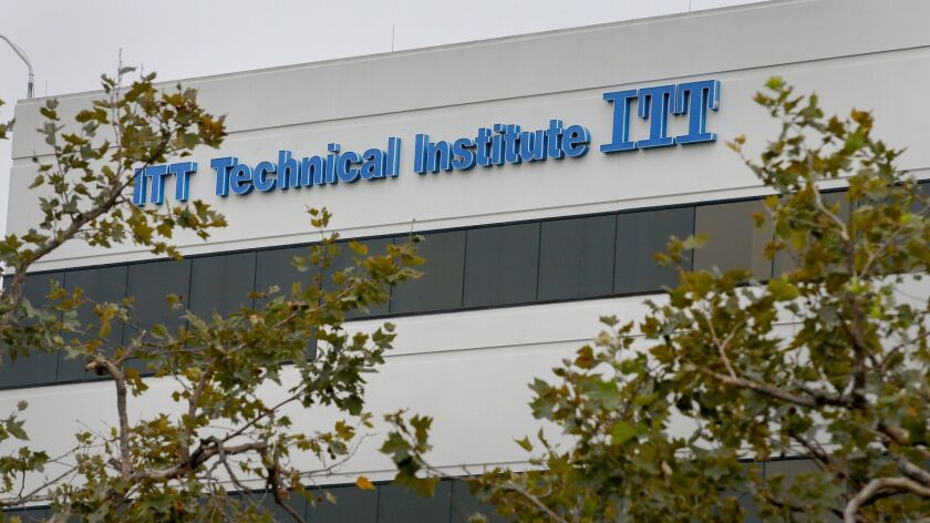 ORANGE, CA., SEPTEMBER 6, 2016: The ITT Technical Institute campus in Orange is one of several in So