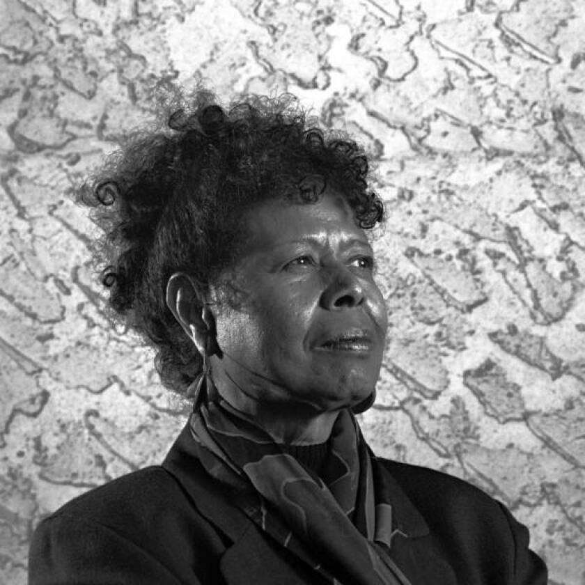 Poet and performance artist Jayne Cortez in 1996; she died Dec. 28 at age 78.