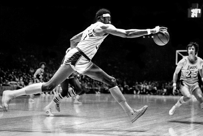 From the Archives: Wilt Chamberlain saves the ball - Los Angeles Times
