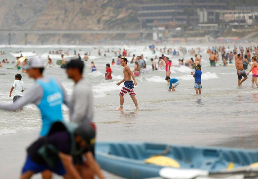 Thousands of beach goers lined La Jolla Shores beach the first weekend of September 2019 during Labor Day weekend.