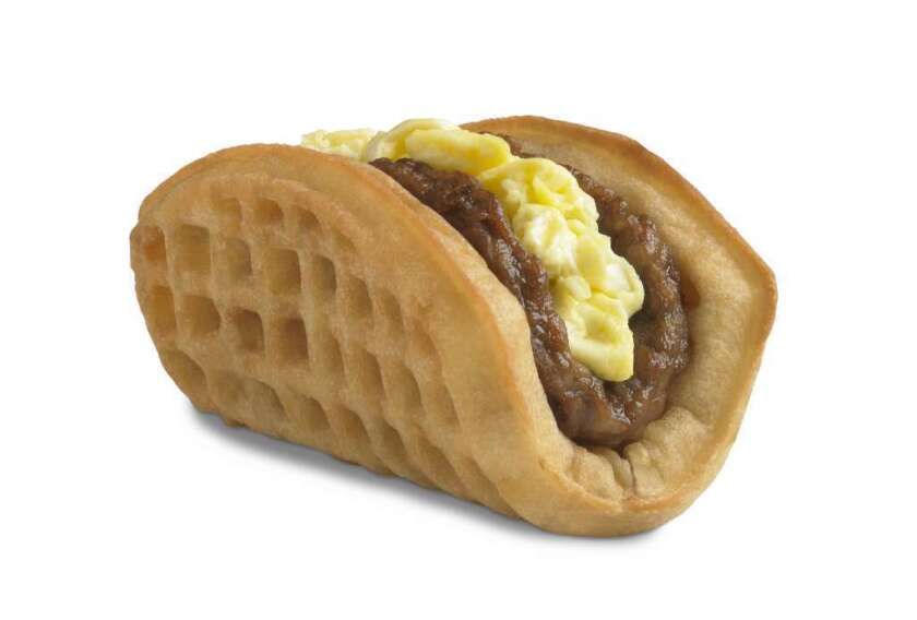 This undated product image provided by Taco Bell, shows the company's new waffle taco. But is it really a taco?