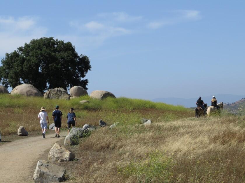 Hikers and equestrians alike enjoy the Ramona Grasslands Preserve